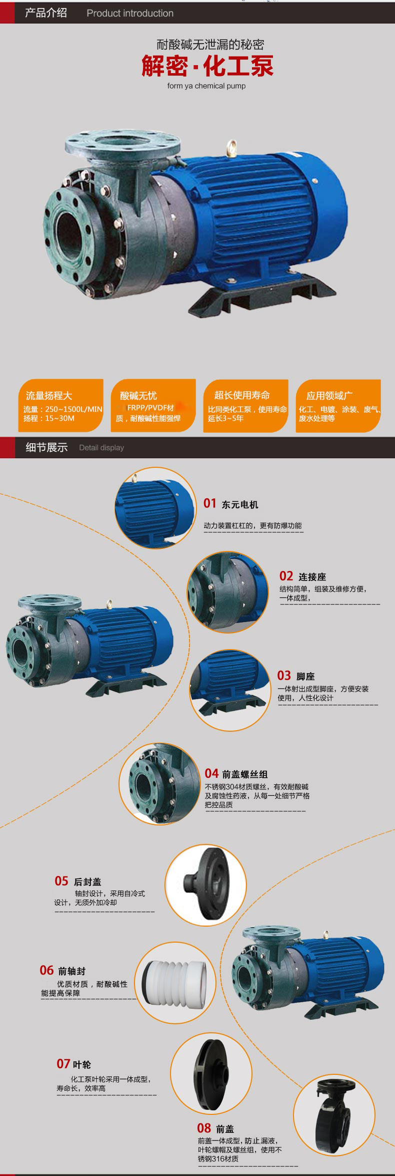 塑宝化工泵优势
